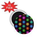 Pattern Background Colorful Design 1.75  Magnets (10 pack)