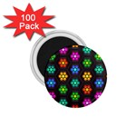 Pattern Background Colorful Design 1.75  Magnets (100 pack)