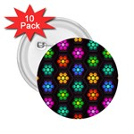 Pattern Background Colorful Design 2.25  Buttons (10 pack)