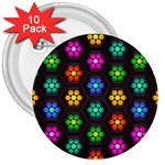 Pattern Background Colorful Design 3  Buttons (10 pack)