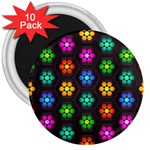 Pattern Background Colorful Design 3  Magnets (10 pack)