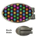 Pattern Background Colorful Design Money Clips (Oval)