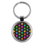 Pattern Background Colorful Design Key Chains (Round)