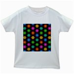Pattern Background Colorful Design Kids White T-Shirts