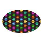Pattern Background Colorful Design Oval Magnet