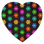 Pattern Background Colorful Design Jigsaw Puzzle (Heart)