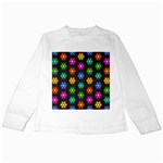 Pattern Background Colorful Design Kids Long Sleeve T-Shirts