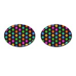 Pattern Background Colorful Design Cufflinks (Oval)