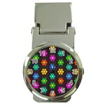 Pattern Background Colorful Design Money Clip Watches