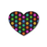 Pattern Background Colorful Design Heart Coaster (4 pack)