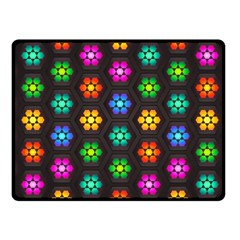 Pattern Background Colorful Design Fleece Blanket (small) by Amaryn4rt