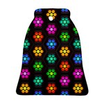 Pattern Background Colorful Design Ornament (Bell)