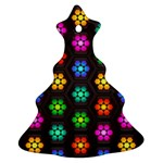 Pattern Background Colorful Design Christmas Tree Ornament (2 Sides)