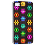 Pattern Background Colorful Design Apple iPhone 4/4s Seamless Case (White)