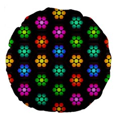 Pattern Background Colorful Design Large 18  Premium Round Cushions by Amaryn4rt