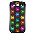 Pattern Background Colorful Design Samsung Galaxy S3 Back Case (Black)