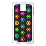 Pattern Background Colorful Design Samsung Galaxy Note 3 N9005 Case (White)