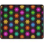 Pattern Background Colorful Design Double Sided Fleece Blanket (Medium)