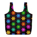 Pattern Background Colorful Design Full Print Recycle Bags (L)