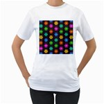 Pattern Background Colorful Design Women s T-Shirt (White)