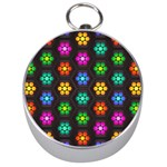 Pattern Background Colorful Design Silver Compasses