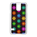 Pattern Background Colorful Design Samsung Galaxy S5 Case (White)