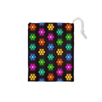 Pattern Background Colorful Design Drawstring Pouches (Small)