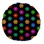 Pattern Background Colorful Design Large 18  Premium Flano Round Cushions