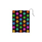 Pattern Background Colorful Design Drawstring Pouches (XS)