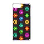 Pattern Background Colorful Design Apple iPhone 7 Plus White Seamless Case