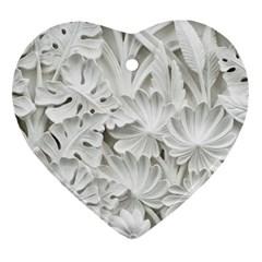 Pattern Motif Decor Heart Ornament (2 Sides) by Amaryn4rt