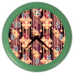 Seamless Pattern Color Wall Clocks by Amaryn4rt