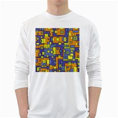 Square Background Background Texture White Long Sleeve T Shirts by Amaryn4rt