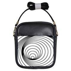 Spiral Eddy Route Symbol Bent Girls Sling Bags by Amaryn4rt