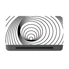 Spiral Eddy Route Symbol Bent Memory Card Reader With Cf by Amaryn4rt