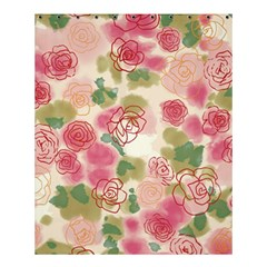 Aquarelle Pink Flower  Shower Curtain 60  X 72  (medium)  by Brittlevirginclothing