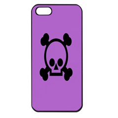 Cartoonskull Danger Apple Iphone 5 Seamless Case (black) by Jojostore