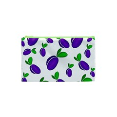 Decorative Plums Pattern Cosmetic Bag (xs) by Valentinaart