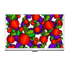 Peaches And Plums Business Card Holders by Valentinaart