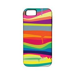 Colorfull Rainbow Apple Iphone 5 Classic Hardshell Case (pc+silicone) by Jojostore