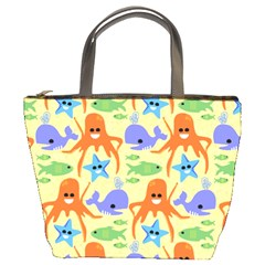 Calamari Squid Whale Bucket Bags by Jojostore