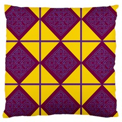 Complexion Purple Yellow Standard Flano Cushion Case (one Side) by Jojostore