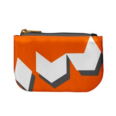 Cute Orange Chevron Mini Coin Purses by Jojostore