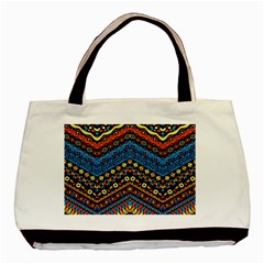 Cute Hand Drawn Ethnic Pattern Basic Tote Bag by Jojostore