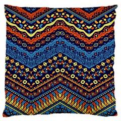 Cute Hand Drawn Ethnic Pattern Standard Flano Cushion Case (two Sides) by Jojostore