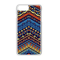 Cute Hand Drawn Ethnic Pattern Apple Iphone 7 Plus White Seamless Case by Jojostore