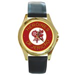 Heroines of Jericho Round Gold Metal Watch