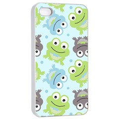 Frog Green Apple Iphone 4/4s Seamless Case (white) by Jojostore