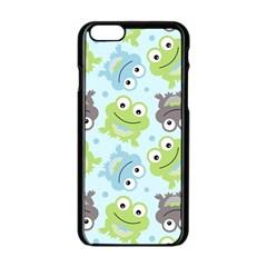 Frog Green Apple Iphone 6/6s Black Enamel Case by Jojostore
