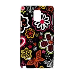 Flower Butterfly Samsung Galaxy Note 4 Hardshell Case by Jojostore